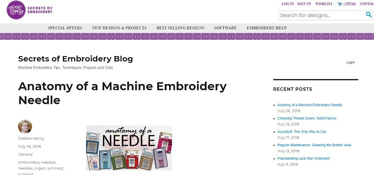 Secrets of Embroidery Blog