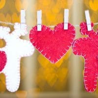 DIY Hand Sewn Felt Christmas Ornament Tutorial - Decorating