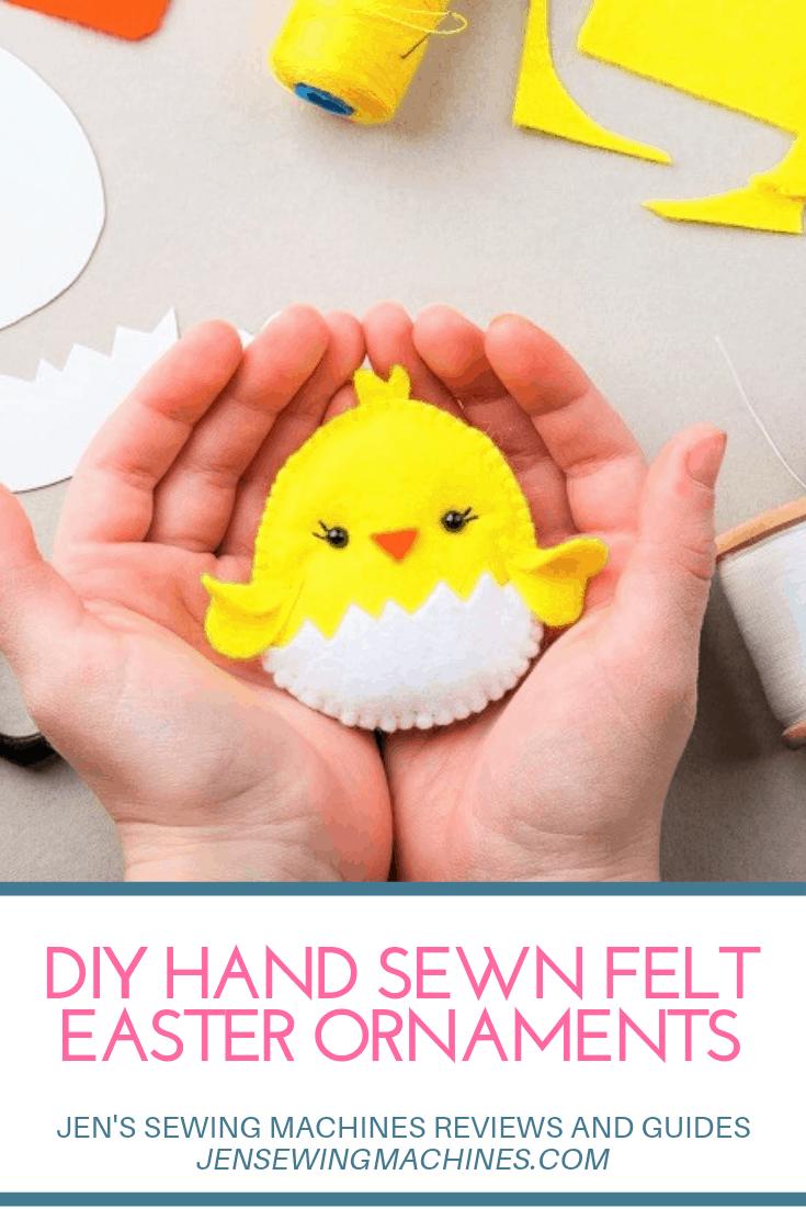 DIY Felt Easter Ornaments Tutorial
