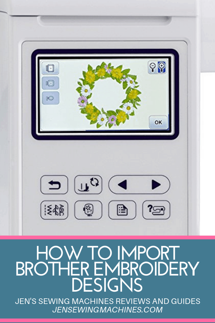 How to Import Brother Embroidery Designs
