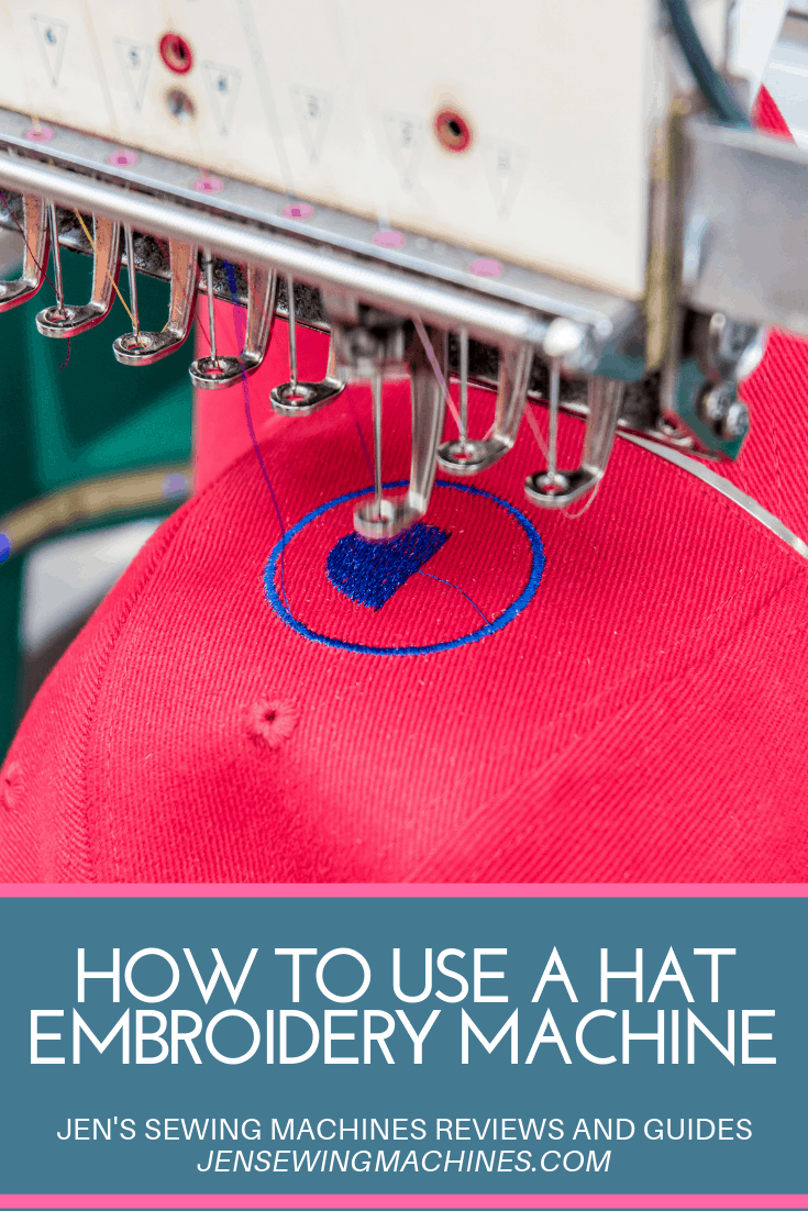 How to use a hat embroidery machine