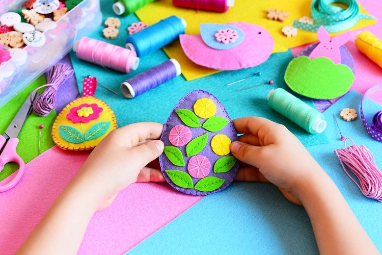 DIY Hand Easter Sewing Project Step by Step Tutorial